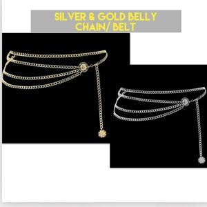 Vintage gold&silver multi layer waist chain *NWT*